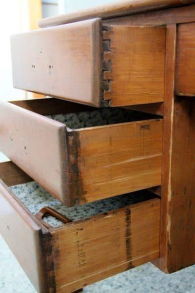 Study Desk Wood drawers