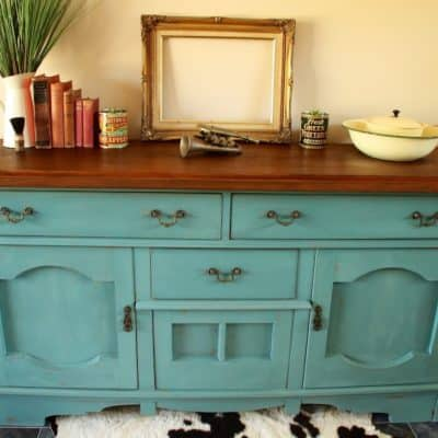 Kitchen Scale Sideboard Milk Paint Makeover = Happy Customer!