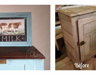Miss Mustard Seed's Milk Paint – Antique Fridge Makeover