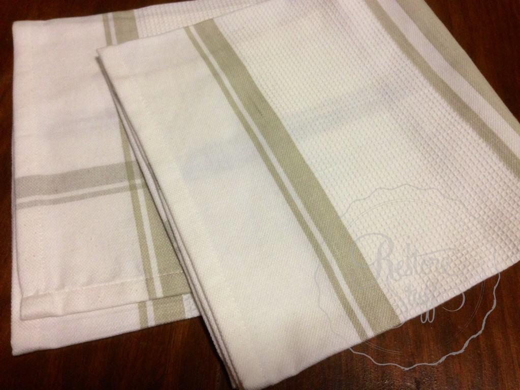 Tea towel cushion 1