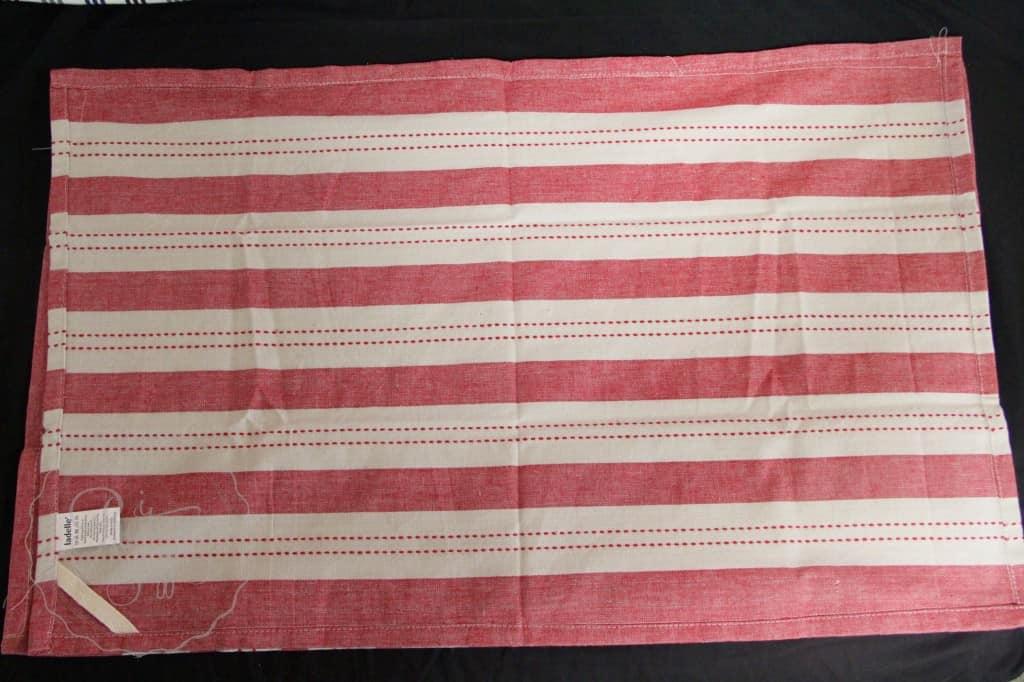 Tea towel red stripe 1