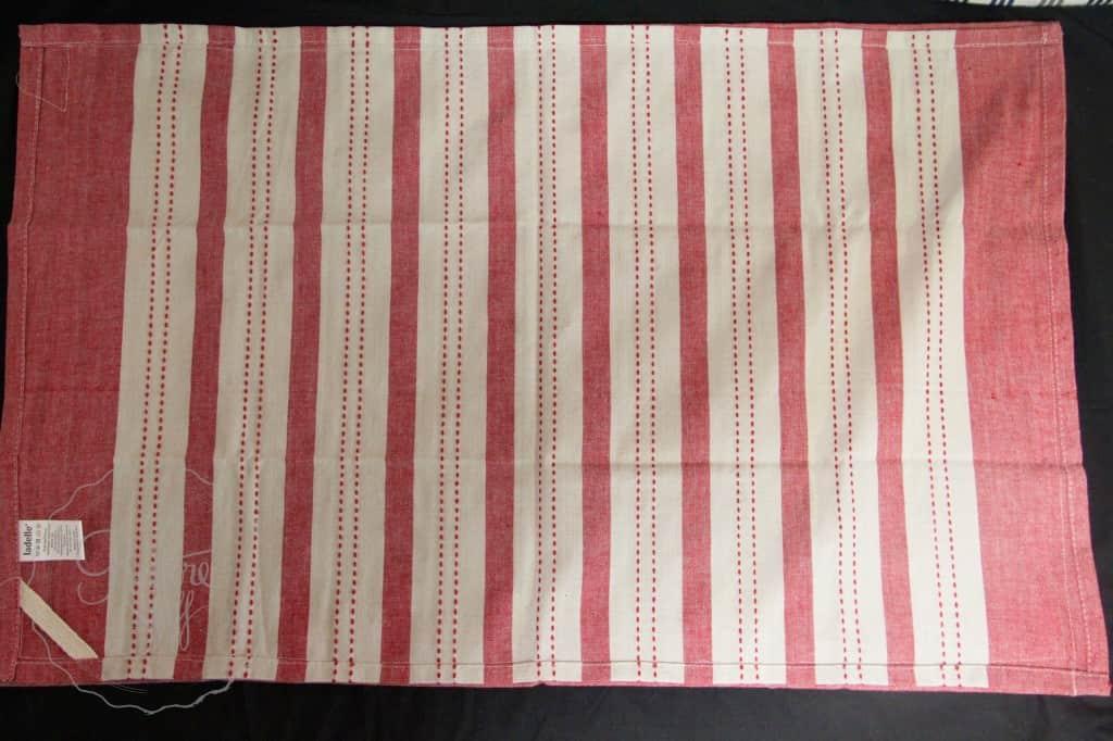 Tea towel red stripe 2