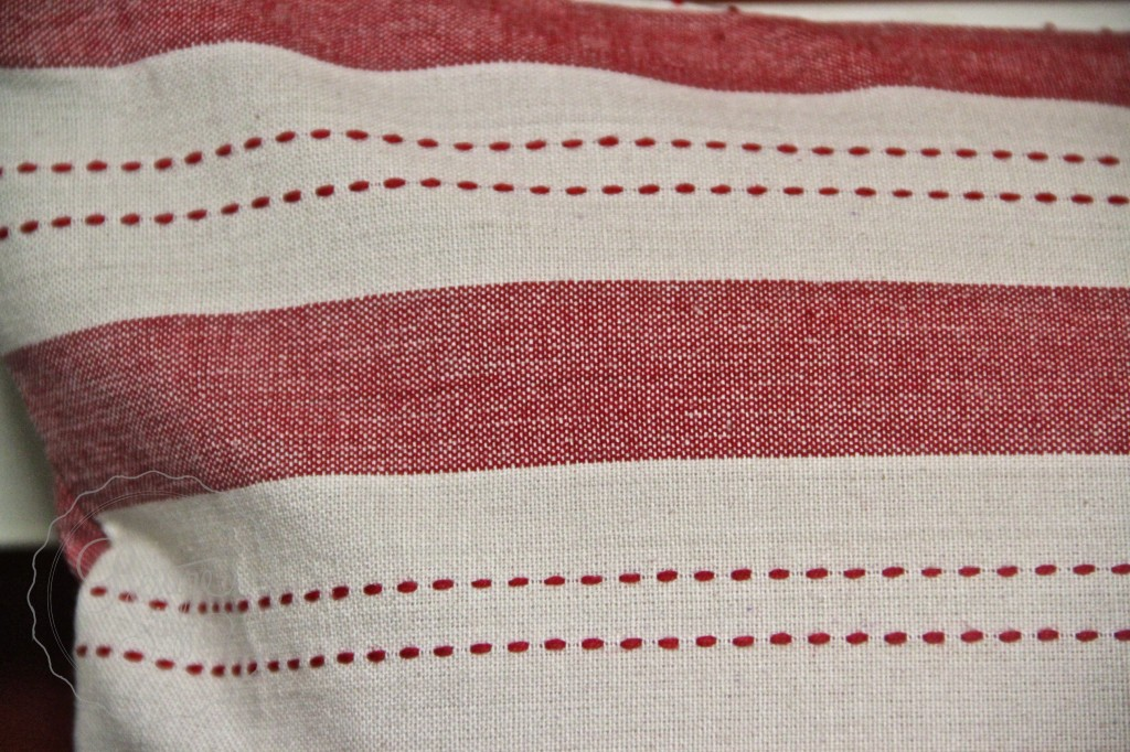 Tea towels red stripe