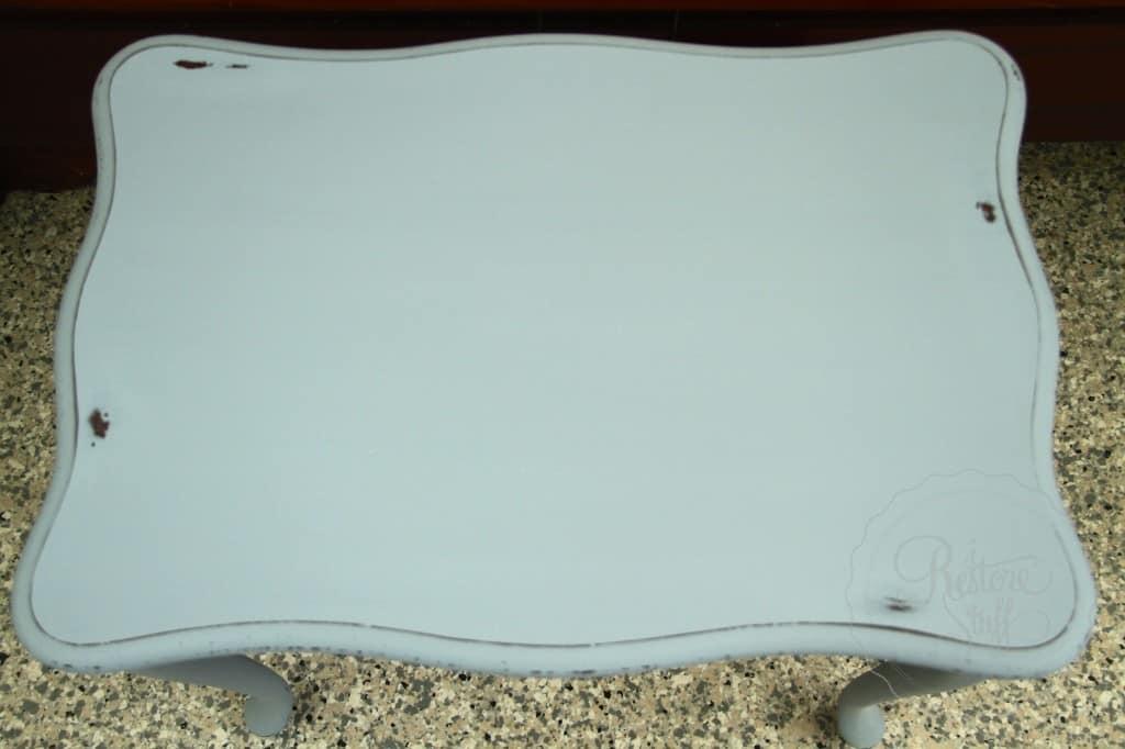 Shutter Gray stencil coffee table 11