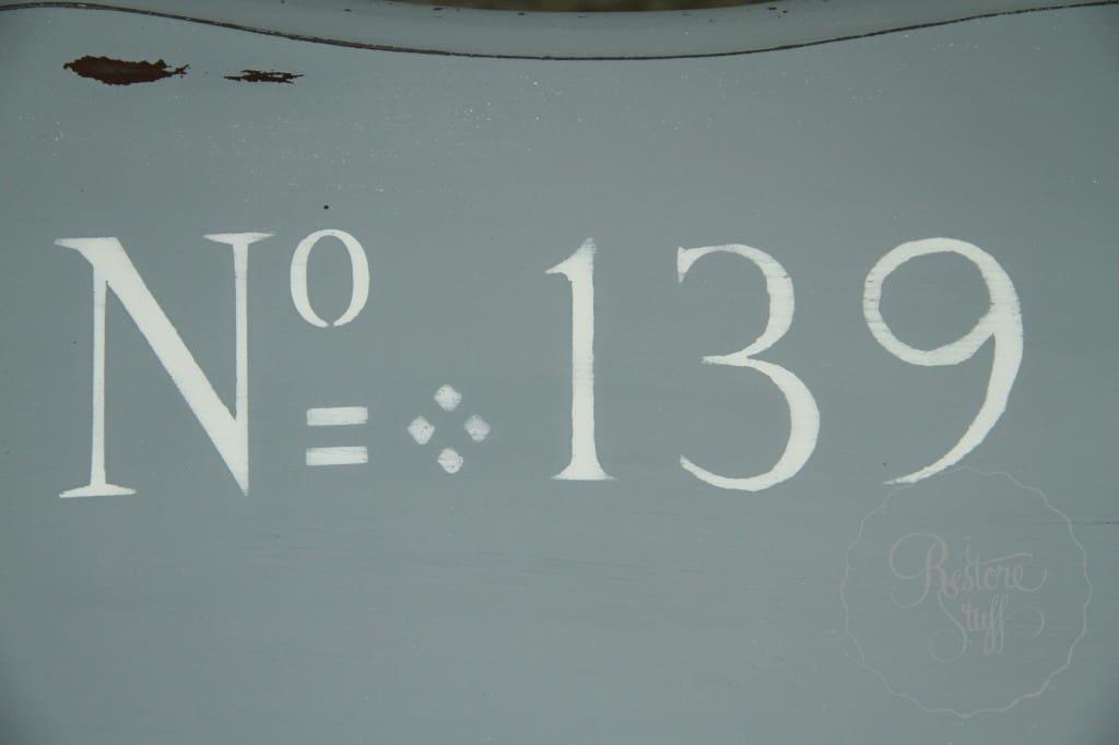 Shutter Gray stencil coffee table 13