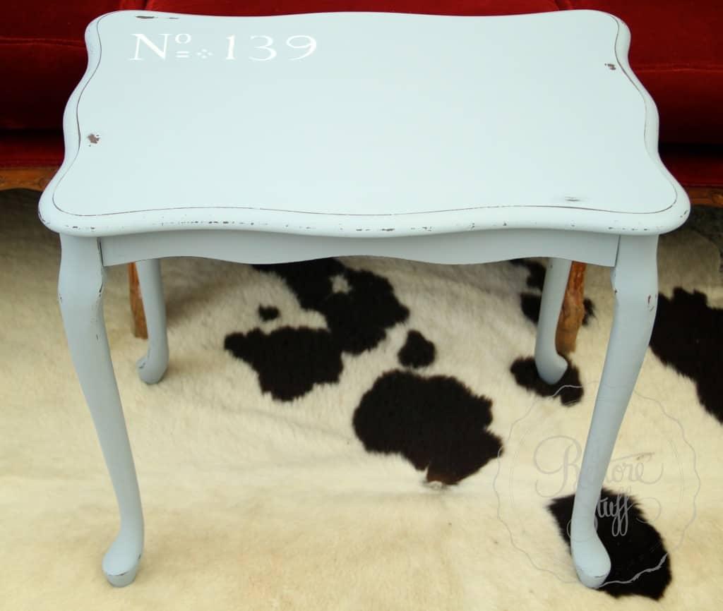 Shutter Gray stencil coffee table 19