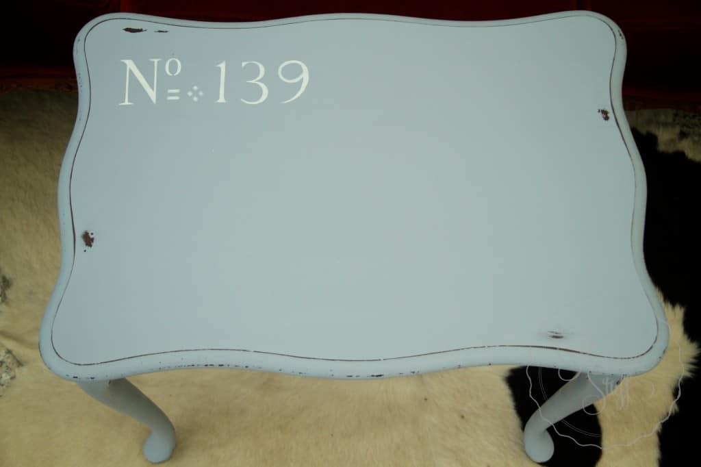 Shutter Gray stencil coffee table 22