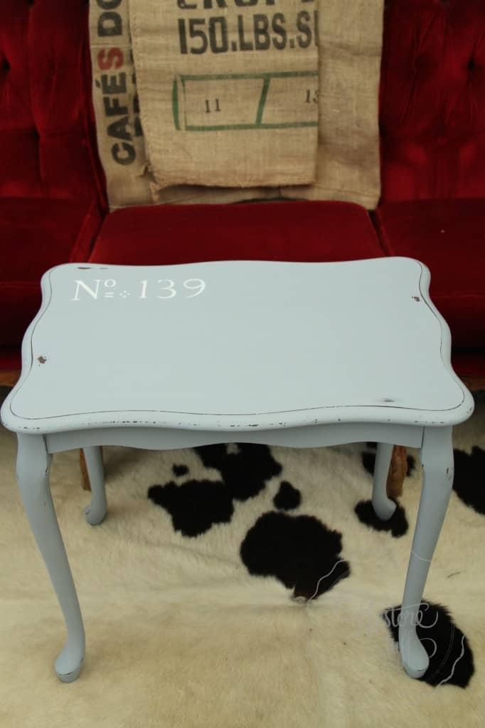 Shutter Gray stencil coffee table 23