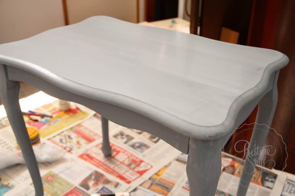 Shutter Gray stencil coffee table 6