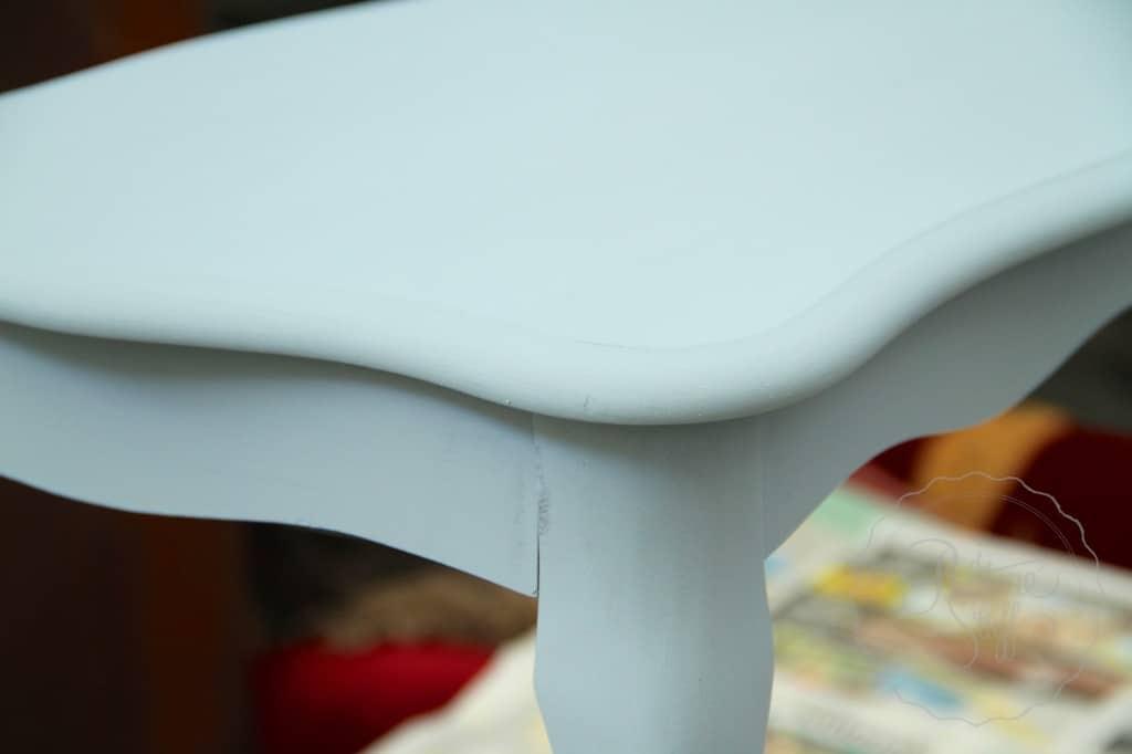 Shutter Gray stencil coffee table 8