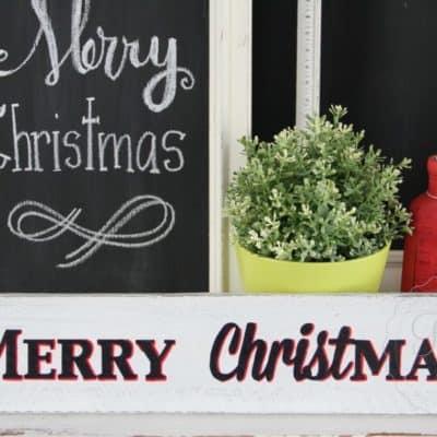 A Simple Christmas Sign & MMSMP Tough Coat Sealer