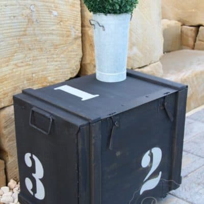 Another Army Box Up-cycled to Side Table with Milk Paint