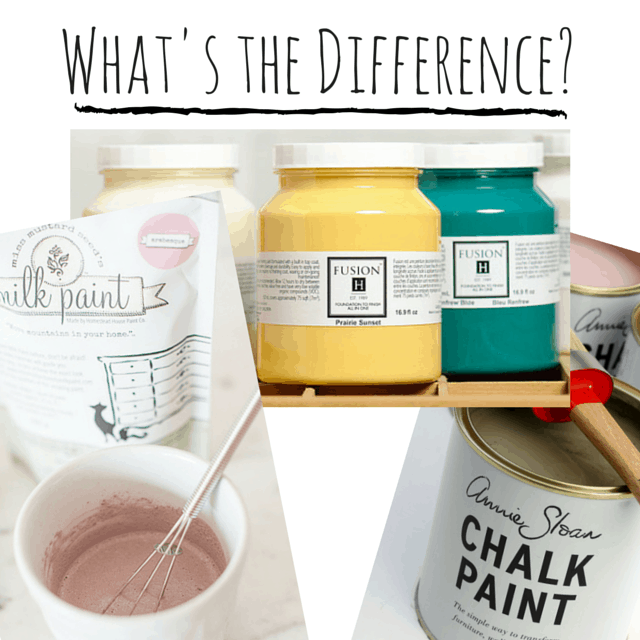 Difference Between Chalk Paint And Flat Paint