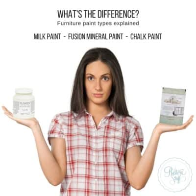 Milk Paint, Chalk Paint, Fusion Paint – What's the Difference?