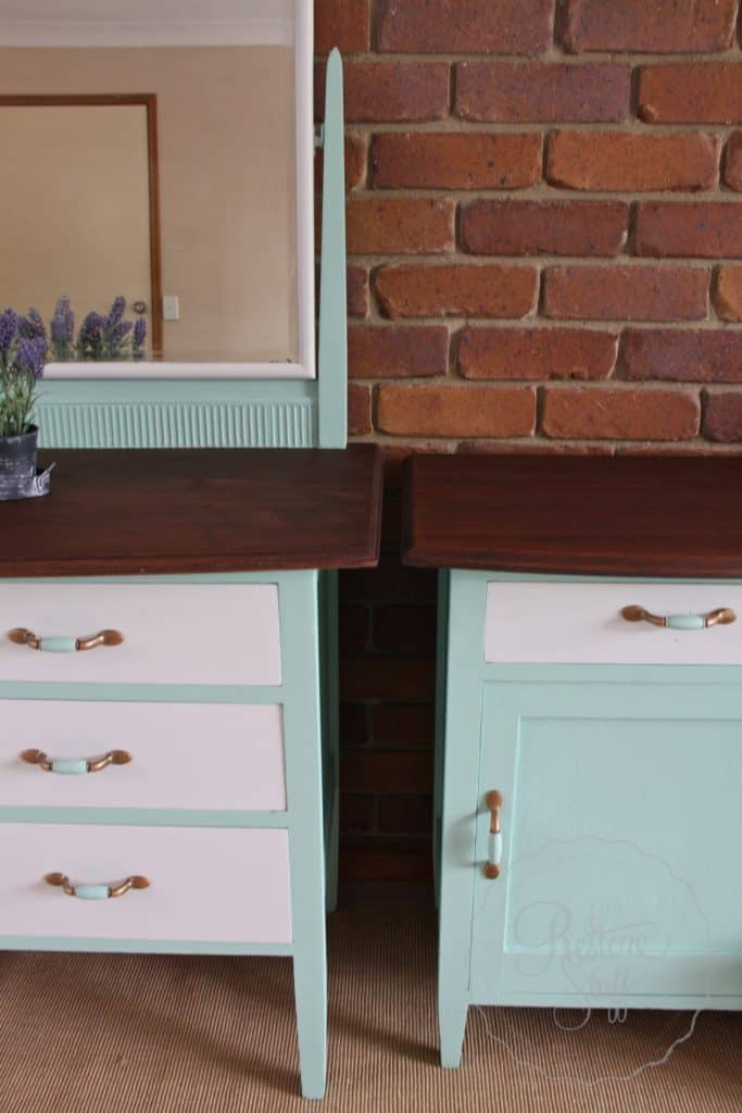 Fusion Mineral Paint Dresser Set Refinished