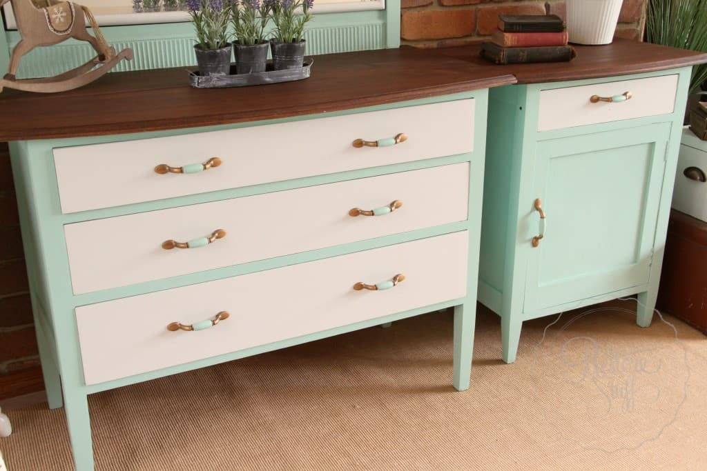 dresser & bedside Laurentien finished 3