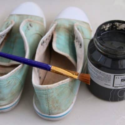Fusion Mineral Paint Saves Muddy Canvas Shoes!