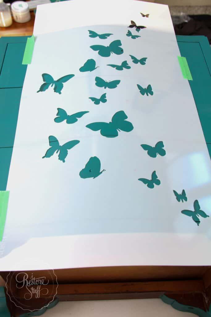 Butterfly dresser set-8550