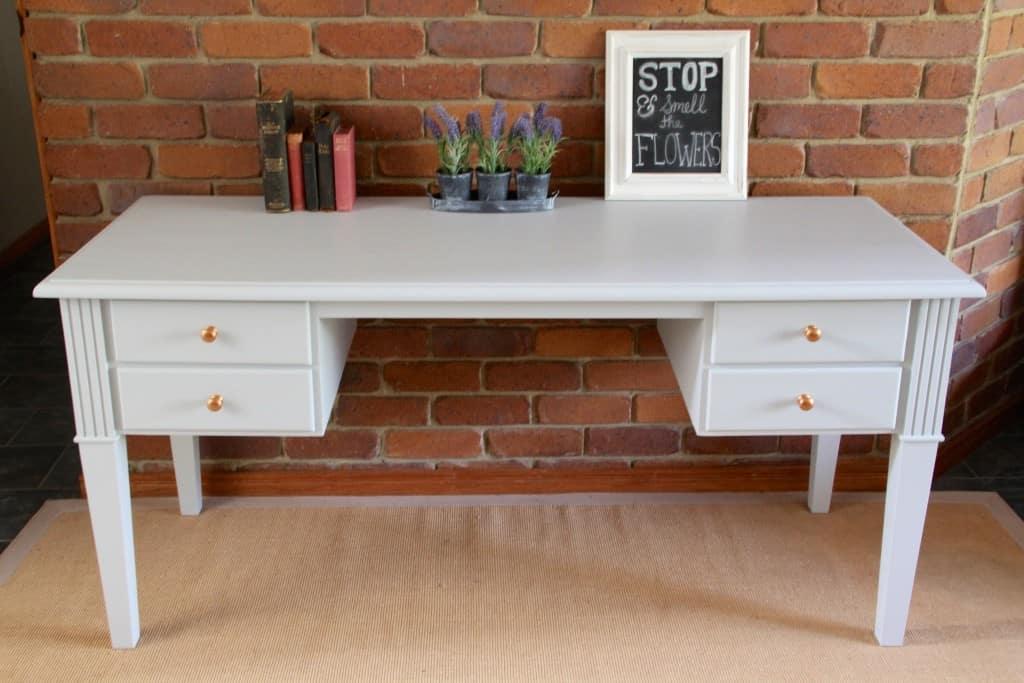 Sterling study desk copper knobs12