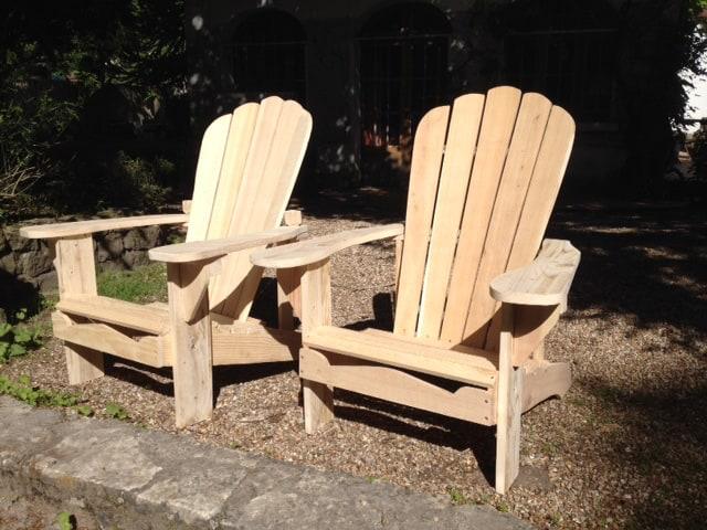 adirondack chairs untreated