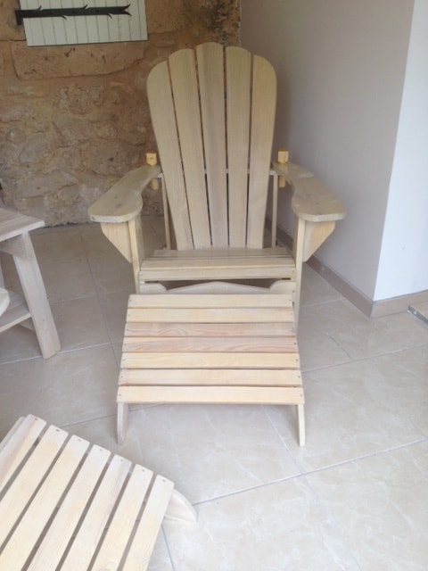 adirondack with grain sack and oil