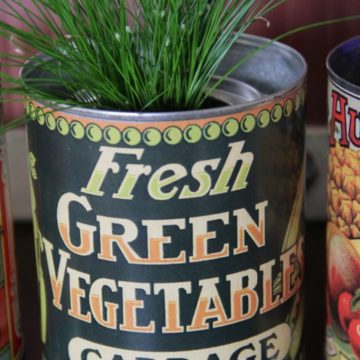 Fresh Green Vegetables can label