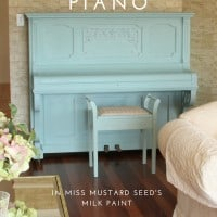 Painted Piano Miss Mustard Seed's Milk Paint