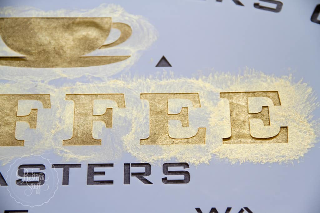 Metallic gold t-shirt stencil-1874