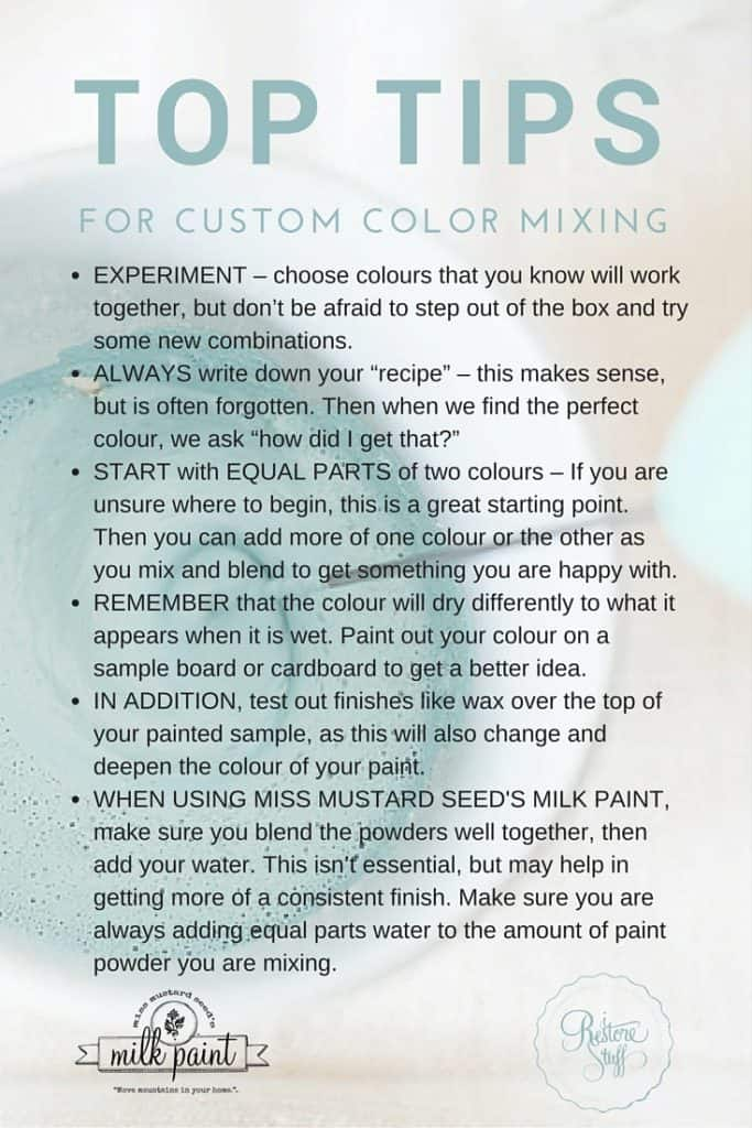 Top Tips for Custom Color Mixing