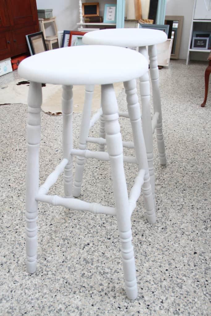 Aubusson & Soap stone stools-3722