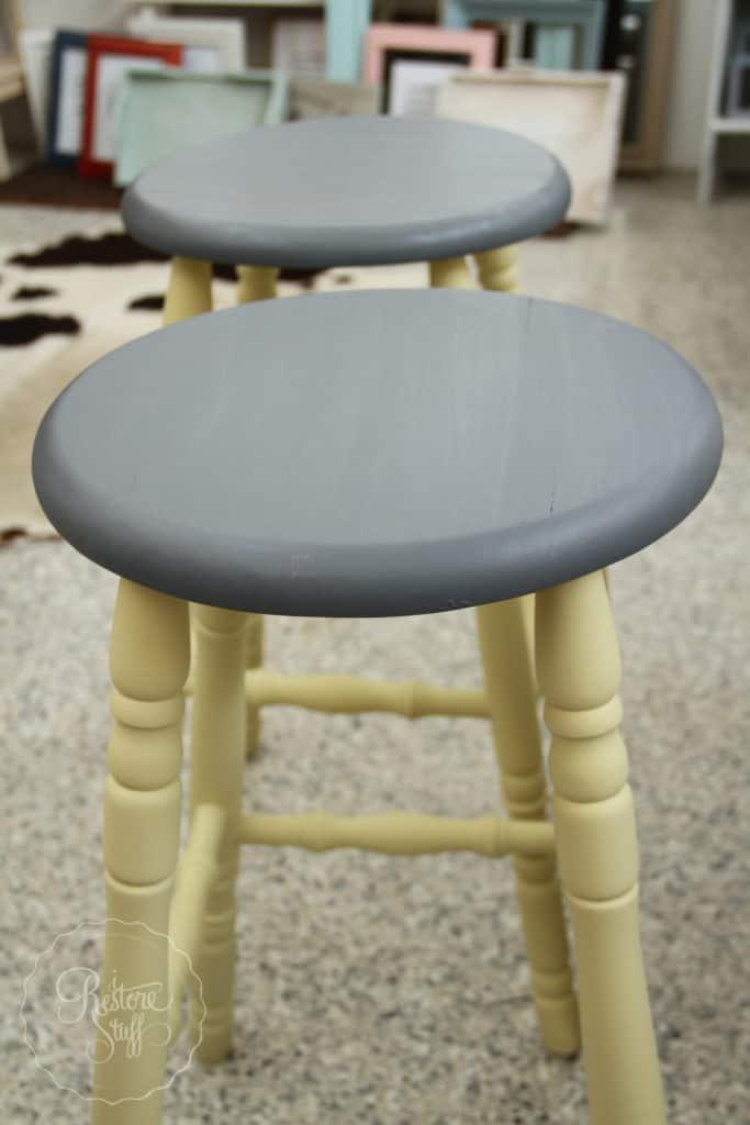 Aubusson & Soap stone stools-3735