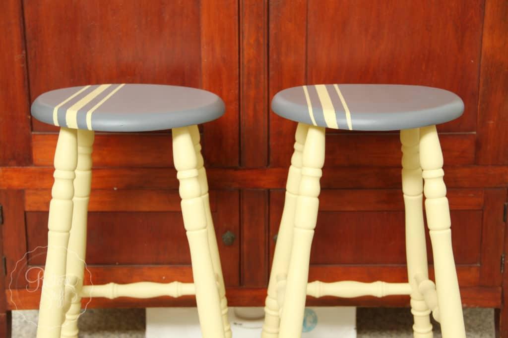 Aubusson & Soap stone stools-3743