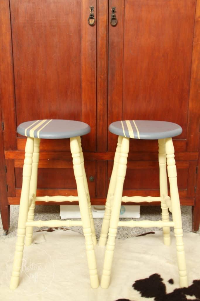 Aubusson & Soap stone stools-3744