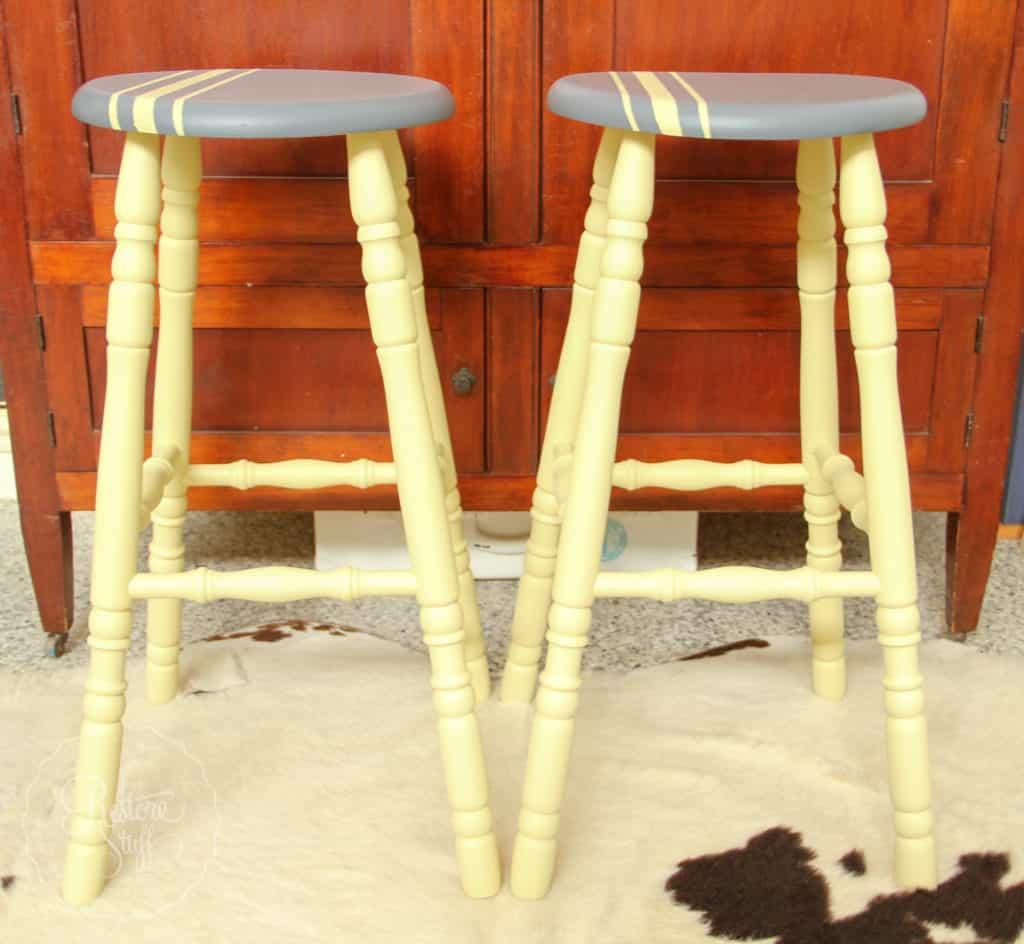 Aubusson & Soap stone stools-3748