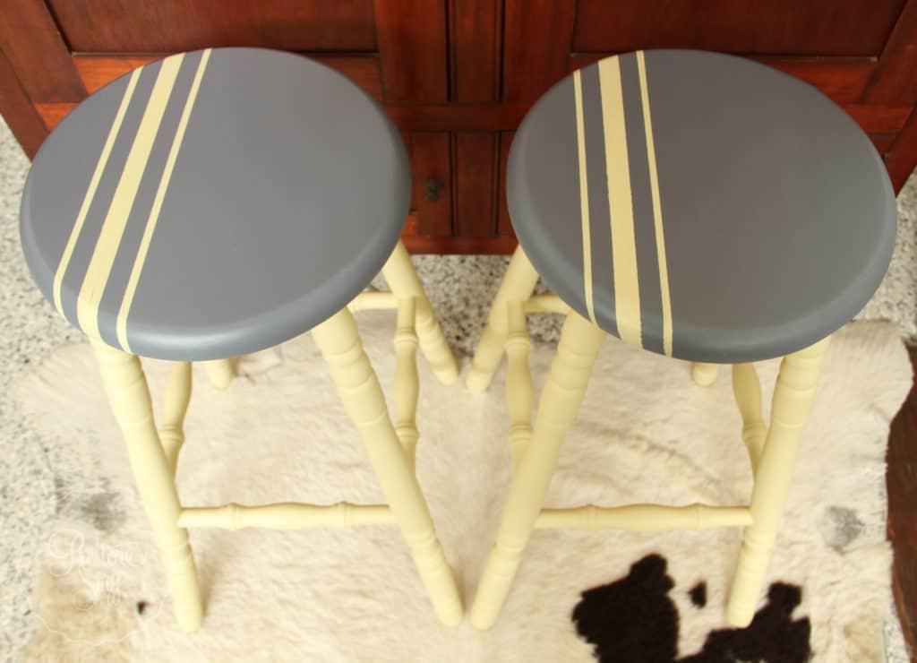 Aubusson & Soap stone stools-3749