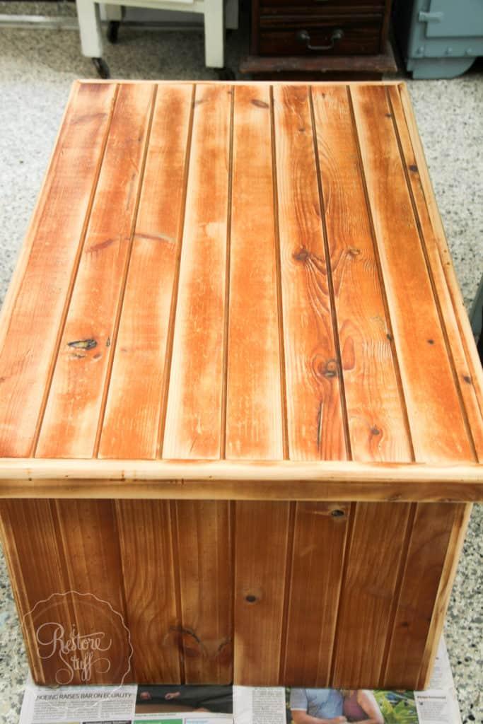 Boho Milk Paint coffee table-4386