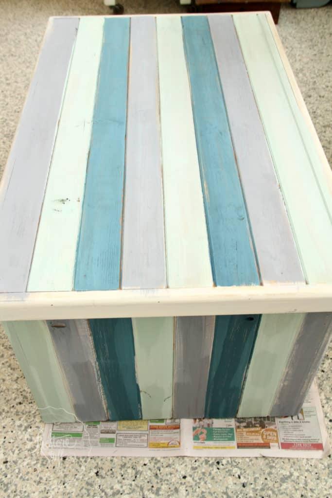 Boho Milk Paint coffee table-4391