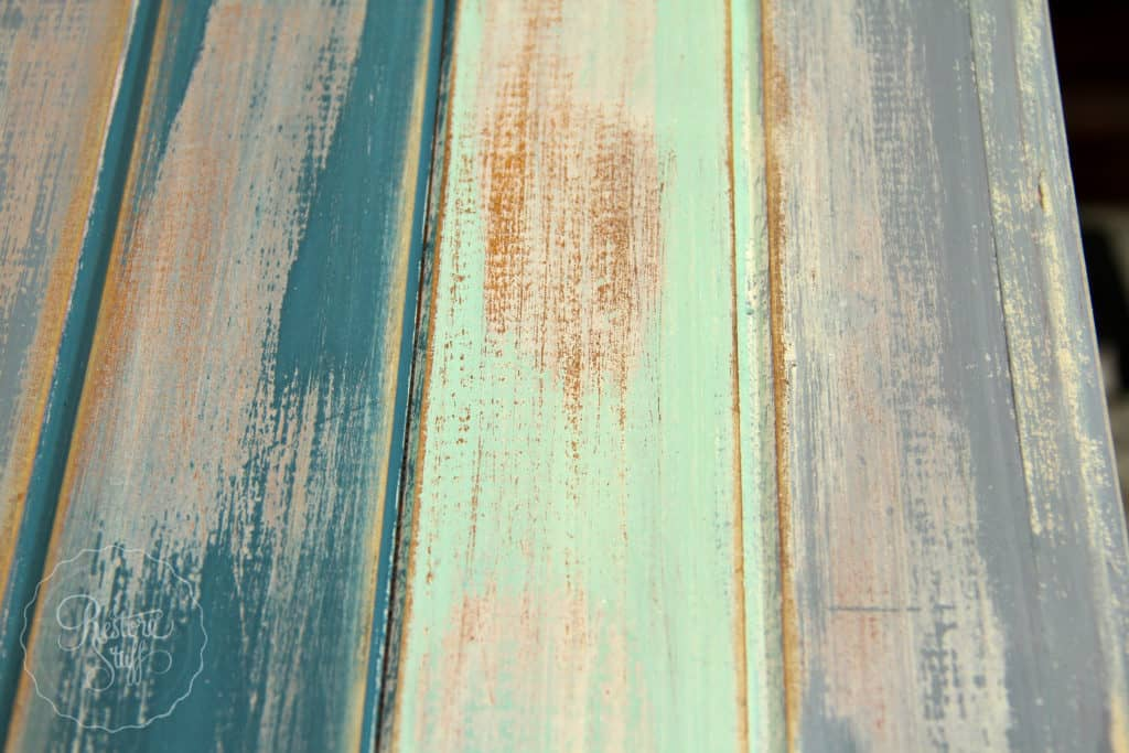 Boho Milk Paint coffee table-4394