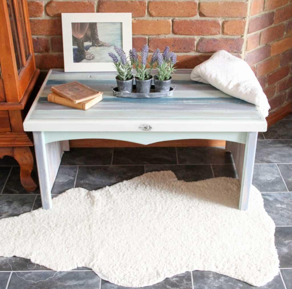 Boho Milk Paint coffee table-4421