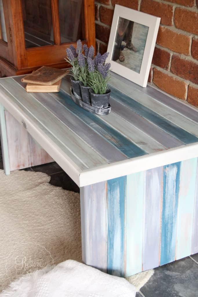Boho Milk Paint coffee table-4428