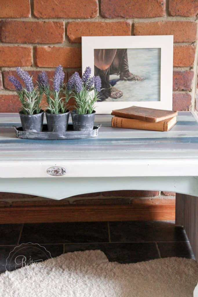 Boho Milk Paint coffee table-4431