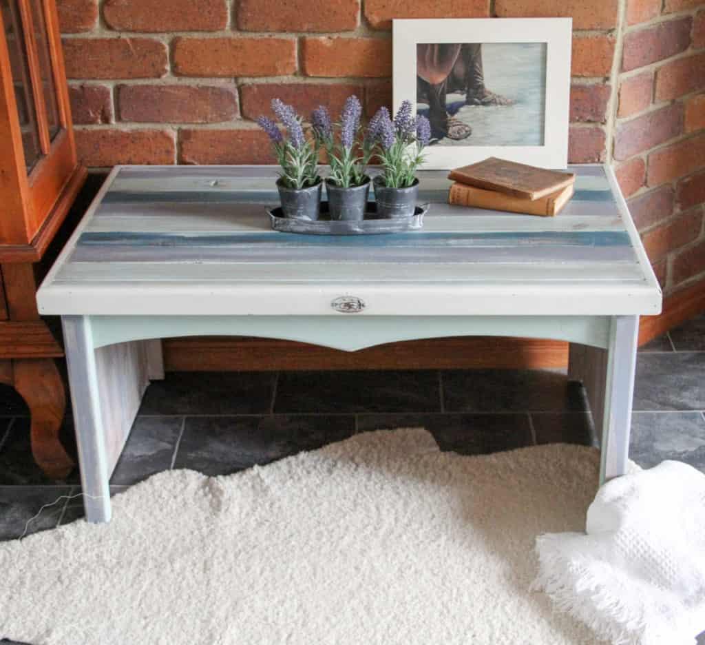 Boho Milk Paint coffee table-4432