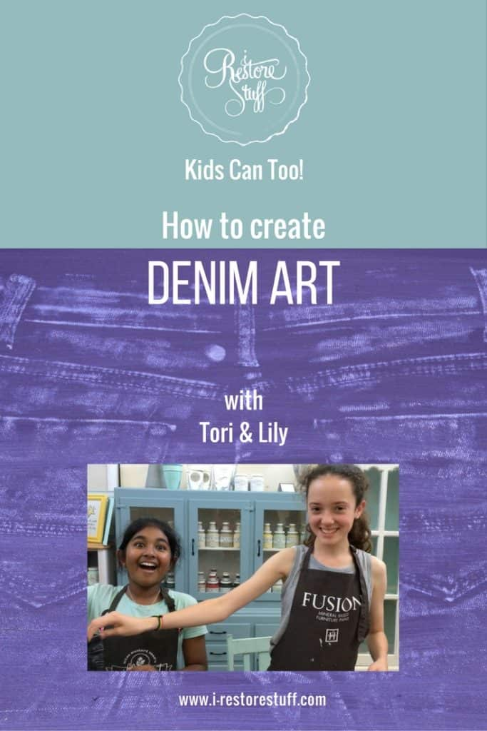 how to create denim art