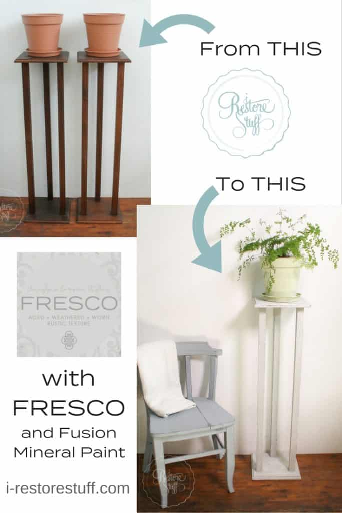 Fresco on plant stands
