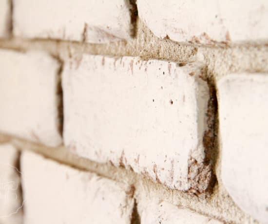 Brick wall Milk Paint
