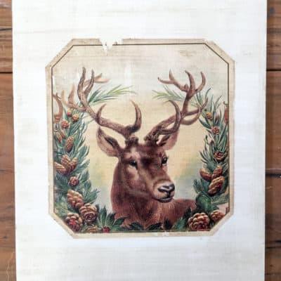 Vintage Christmas Graphic Transfer – Holiday Wall Art!