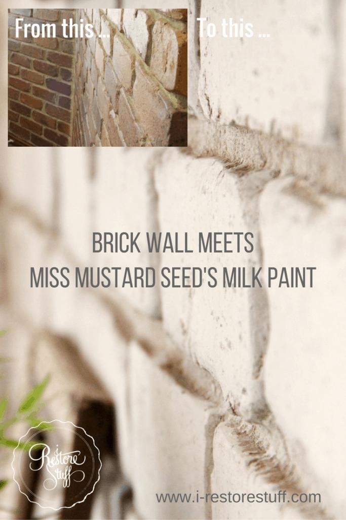Milk Paint on Brick Walls