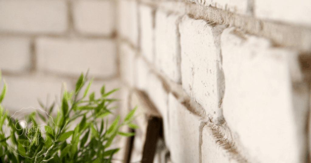 Brick Wall in Miss Mustard Seed's Milk Paint