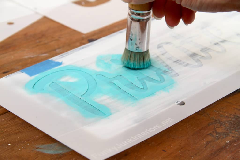 Stippling Stencilling