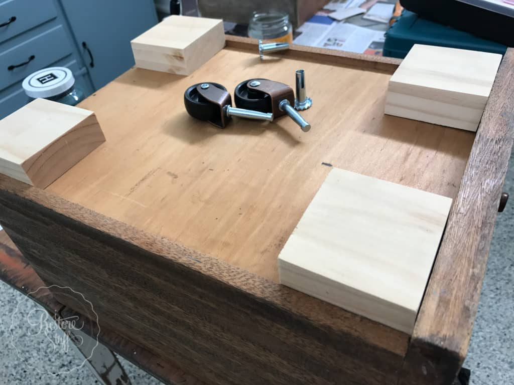 Clamping Down The Wood Blocks I Carefully Drilled Holes Width Of Shaft Barrel